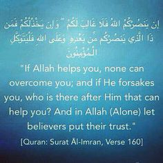 If Allah helps yoy.none can overcome you