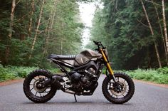 "Yamaha FZ-09 ""Moto 3"" by @droogmoto. Check out the shop section of their website to order one for yourself! #yamahafz #fz09 #scrambler #streetfighter #nakedbike #tracker"