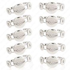 10 Snap-Armspangen - für Click-Buttons (XL+M) Wechselschmuck