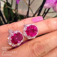 Side by side, an African and a Burmese #ruby #DavidMorris #engagementring See more at www.thejewelleryeditor.com