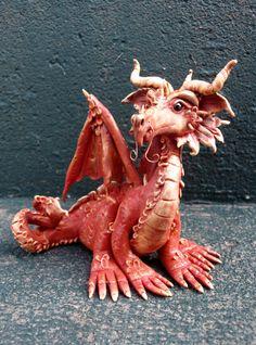 Dante Polymer Clay Dragon by AtelierDragonfly on Etsy, $50.00