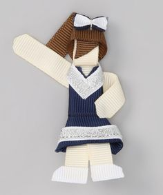 Take a look at this Blue & Silver Brown-Haired Cheerleader Clip by Girls' Blow-Out Sale on #zulily today!