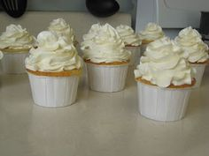 Pineapple Cupcakes with Italian Butter Cream