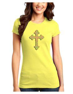TooLoud Easter Color Cross Juniors Petite T-Shirt