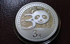 2012 China Panda 30th Anniversary Silver Coin 3 Yuan with BOX and COA