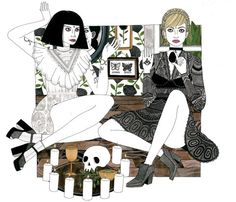 Laura Callaghan's Intricate Illustrations of Cool, Bookish Girls | Flavorwire