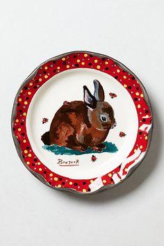 Rabbit Dinner Plate #anthropologie