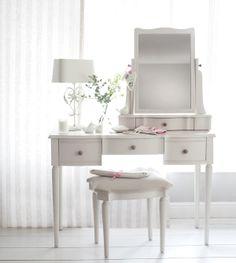 Laura Ashley Vanity - So Pretty! Laura Ashley Dressing Table, Dressing Table Vanity, Vanity Desk, Dressing Tables, Interior Decorating, Interior Design, Contemporary Decor, Home Living Room, My Room