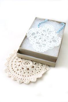 Crochet Necklace - Doily Necklace - Crochet Jewelry - Vegan Necklace - Necklace - Crochet Necklace - Necklace - White Necklace - Crochet by MyPrettyBabi on Etsy #myprettybabi #vegan