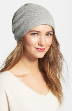 I like the one in burgundy!! Halogen® Slouchy Cashmere Beanie available at #Nordstrom