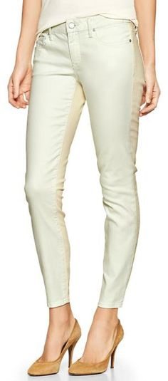 Gap 1969 Colorblock Always Skinny Skimmer Jeans - spring mint
