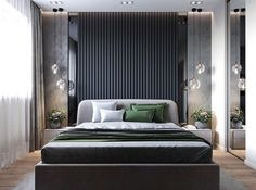 42 Stunning Modern Style Make Great Your Bedroom Again - Elevatedroom Country Bedroom Design, Luxury Bedroom Design, Modern Master Bedroom, Master Bedroom Design, Contemporary Bedroom, Home Decor Bedroom, Interior Design, Bedroom Ideas, Royal Bedroom