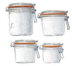 Amazon.com: Le Parfait French Wide Mouth Glass Canning Jar with 100mm Gasket and Lid 26.25 Oz, 750 Grams: Home & Kitchen