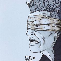 Awesome David Bowie illustration created by @desenhai with their Chameleon Pens.   -#desenhai #desenho #drawing #draw #ink #inking #sketchbook #ilustracao #illustration #arteparavida #arte #ink #doodle #instaart #artedodia #achadosdasemana #creative #instaart #artwork #artist #musica #rock #davidbowie #bowie #lazarus #blackstar #chameleonpens