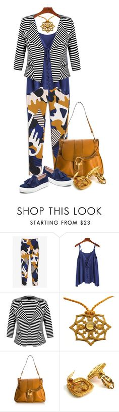 """""""Fall Pattern Mixing! *Outfit Only* (1)"""" by queenrachietemplateaddict ❤ liked on Polyvore featuring Monki, City Chic, Chloé, Chanel and J/Slides"""