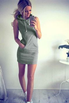 Weekend Warrior Tank Dress - TheChicFind.com