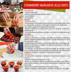 strawberry margarita jello shots strawberries recipe recipes jello ingredients instructions drink recipes alcohol drink recipes margarita