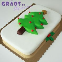 Pinheiro de Natal | 3D | Natal | Grãos de Açúcar - Bolos decorados - Cake Design