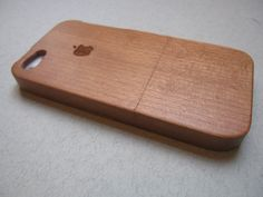 Iphone 5 case  wooden cases bamboo cherry and by CreativeUseofTech, $39.00