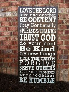 Christian Family Rules...Want this!!
