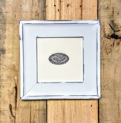 Bleecker Distressed White Custom Wood Picture Frame