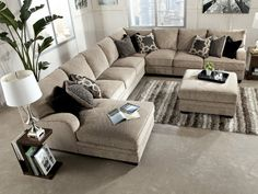 Tisha 6 Piece Sectional Package Including Storage Ottoman | HOM Furniture