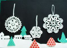#fiocco_di_neve #Schneeflocke #snowflake_crochet #natale #Schneeflocken FIOCCHI DI NEVE 3X MISURE DIVERSE FIOCCO DI NEVE di LADIESSEDEL67 su DaWanda.com