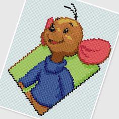 PDF Cross Stitch pattern 0254 Roo (Winnie the Pooh) by PDFcrossstitch
