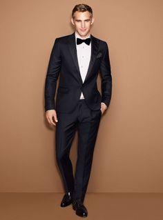 costume homme mariage noir et blanc simple avec noeud papillon Costume Noir  Mariage 19874e48278