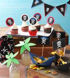A Pirate Party for Kids! Young buccaneers will love this kids pirate party adventure to celebrate a birthday. Pirate Birthday, Pirate Theme, 3rd Birthday Parties, Girls Pirate Parties, Pirate Kids, Pirate Food, Pirate Boats, Party Printables, Free Printables