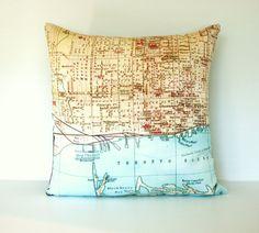 Toronto Organic Map Pillow by mybeardedpigeon