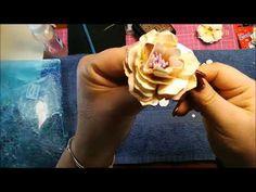 DIY kwiaty vintage - z papieru