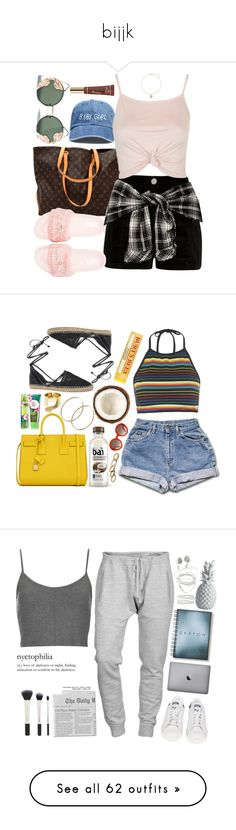"""""""bijjk"""" by shalece ❤ liked on Polyvore featuring Louis Vuitton, River Island, Topshop, Puma, Spitfire, Disney, Motel, Yves Saint Laurent, Burt's Bees and Circus By Sam Edelman"""