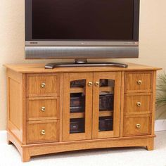 Compact Entertainment Center Woodworking Plan from WOOD Magazine