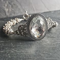 Rhinestone Cocktail Bracelet - Handmade Bridal Jewelry - Ren Faire - Princess Costume Accessories - Handmade Jewelry - Ren Faire - DRAVYNMOOR