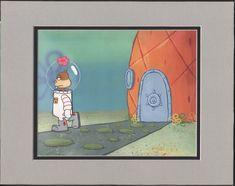 SpongeBob SquarePants Sandy Cheeks Production Animation Art Cel Nickelodeon    eBay