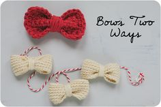 Crochet Bows - Tutorial  ❥ 4U // hf