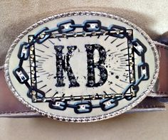 Contact us to create your customized #buckle! #initials #fashion