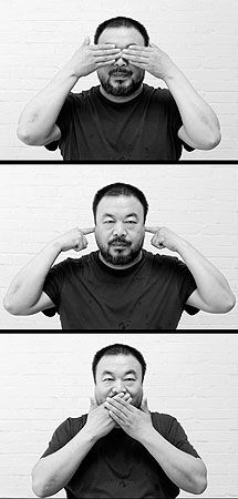 With a Greater Social Good conceptual artist ai weiwei - conceptual artist ai weiwei - Ai Weiwei, In China, Anais Nin, Wei Wei, Wise Monkeys, Arte Popular, Conceptual Art, Artist At Work, Contemporary Artists
