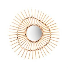 Bamboo mirror irregular