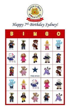Build A Bear Birthday Party Game Bingo Cards Build A Bear Birthday, Build A Bear Party, Teddy Bear Birthday, Picnic Birthday, 9th Birthday, Kids Party Games, Birthday Party Games, Birthday Party Invitations, Birthday Ideas