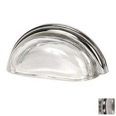 Lew's Hardware 3-in Center-to-Center Polished Chrome Glass Bin Pulls Cup Cabinet Pull