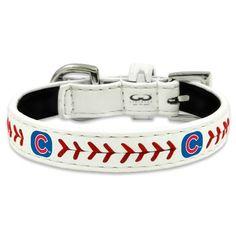 #MLB #ChicagoCubs Classic Leather Baseball Dog #Collar