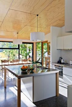 Arrowtown House kerr ritchie architects queenstown new zealand Plywood Ceiling, Plywood Walls, Timber Ceiling, Wood Ceilings, Plywood Interior, Plywood Kitchen, Shed Homes, Piece A Vivre, Wood Interiors