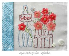 July, August & September patterns for A Year in the Garden.