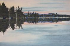 "Art Large Landscape Oil Painting Original Feng Shui By Fournier "" Reflection At Barbue Lake Frontenac National Park Quebec Canada 24 "" x Rembrandt, Lake Painting, Art Abstrait, Original Paintings, Oil Paintings, Original Art, Quebec, Figurative Art, Wood Art"