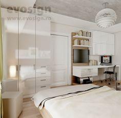 Amenajare Dormitor + Living Living, Interior Design, Home Decor, Nest Design, Decoration Home, Home Interior Design, Room Decor, Interior Designing, Interiors
