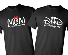 Mom Or Dad Of The Birthday Boy Mickey Minnie By SweetLittleKids Mouse Shirt
