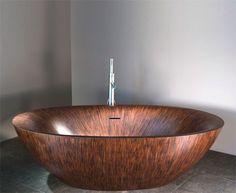 Ingenious Wooden Tubs: Amazing Design Modern Washbasin Furniture Decor With Bathroom Design ~ laurieflower.com Bathroom Inspiration