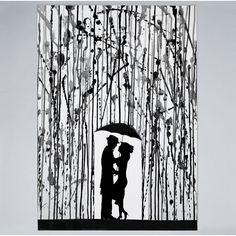 Great Big Canvas 'Film Noir by Marc Allante Graphic Art Print Format: White Frame, Size: H x W x D Painting Prints, Watercolor Paintings, Art Prints, Ink Paintings, Dot Painting, Watercolours, Arte Black, Canvas Wall Art, Canvas Prints